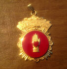 Vtg Odd Fellows IOOF Heart In Hand MERITORIOUS Service Jewel Gold Tone Medal
