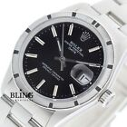 Rolex Men's Oyster Perpetual Date 1501 Stainless Steel Black Dial Watch