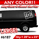 DC SHOES OUTLINE LARGE WALL AUTO DECAL STICKER 28wx23h ANY 1 COLOR
