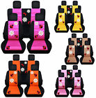 Front And Rear Car Seat Covers Vw Beetle White Daisy Ladybug Choose Colors