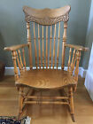Antique Solid Oak Rocking Chair early 1900's