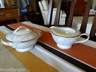 RARE !  2 pc Vintage NORITAKE GRAYCREST 5824 SUGAR BOWL COFFEE CREAMER JAPAN