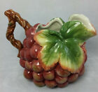 Fitz & Floyd Creamer Country Gourmet Grapes Leaves Vine Handle EUC