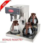 #1 Commercial Brewer Coffee Maker Pourover Machine 3 Warmers Stainless Steel