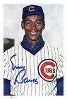 Ernie Banks Let's Play Two Signed Autograph 4 x 6 Van Lines Trading Card Promo