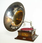 EXTREME HIS MASTERS VOICE MONARCH VICTOR PHONOGRAPH GRAMOPHONE + RARE HORN BOX