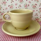 Discontinued Yellow FIESTAWARE Tea Cup & Saucer Setting (2) KKD HLC USA 1996