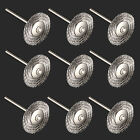 Hot 10Pcs Rotary Tools Steel Wire Wheel Brushes Rust Kit For Dremel Accessories