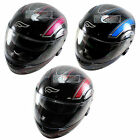 Fulmer Motorcycle Helmet M2B Drift Series Head Protection Visor Red Blue Pink
