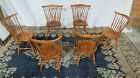 Set Ethan Allen Nutmeg Windsor Chairs Farmhouse