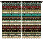Tribal Ethnic Style Pattern  African Design Decor Collection Curtain 2 Panel Set