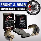 FRONT + REAR Ceramic Brake Pads + Shoes 2 Full Sets Toyota Corolla Geo Prizm