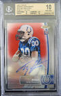 BGS 10 - 2012 FINEST T.Y. HILTON #148 TY RC (11 15) RED REFRACTORS AUTO 10 RARE!