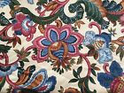 NEW WAVERLY SCREEN PRINT UPHOLSTERY 100% COTTON FABRIC  9 YDS