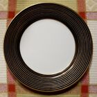 NEW w/tag Fitz & Floyd RONDELLE II BREAD/BUTTER plate.6 1/2 inch.Black/Gold/Wht