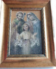 Holy Family Picture Made of Sand  Soil from the Holy Land Rare in the US