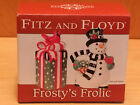Fitz and Floyd FROSTY'S FROLIC Salt and Pepper Shaker Set ~ Snowman and Present