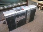 Vintage Sanyo M9818 AM/FM Stereo Cassette Boombox w/ Speakers As-is