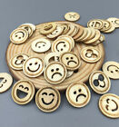 FREE DIY 100X various expressions smiley Wooden Sewing Scrapbooking Crafts 18mm