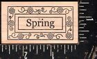 Outlines Rubber Stamp Co Wood Mounted Rubber Stamp Spring NEW