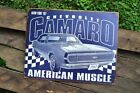 Chevrolet Camaro SS Tin Metal Sign Chevy 1967 American Muscle GM Retro