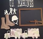 US Marines Die Cut Punchies 7 Piece Set Handmade With Card Stock