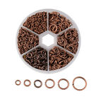 1600pcsbox Iron Open Jump Rings Unsoldered Round Loop Links 6-size Findings Kit