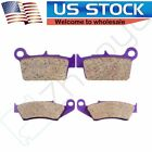 Front Rear Carbon fiber Brake Pads for 2004 2005 KAWASAKI KX 250