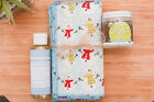 13 Pack Handmade Cloth Baby Wipes System Cotton Flannel Friendly Snowman