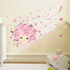 Removable Flower Baby Mermaid Butterfly Wall Decal Sticker Home Decor NURSERY