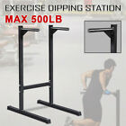 Dip Bar Station Dip Stand Machine Fitness Exercise Home Gym Pull Up Tricep 500lb
