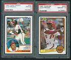 1-1983 julio franco donruss & 1-83 topps traded psa 10's
