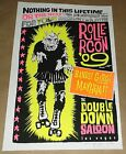 Rollercon Roller Derby live bands Las Vegas Double Down  poster Art Chantry