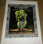 The Makers Kent 3 Pills Crocodile Cafe concert UNCUT poster Art Chantry signed
