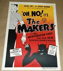 Oh No The Makers Huntington Cads Las Vegas concert poster Art Chantry signed