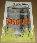 Gasoline Estrus Records promo poster Art Chantry signed