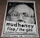 Mudhoney Flop The Gits Mia Zapata silkscreen concert poster Art Chantry
