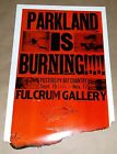 Parkland Tacoma is burning art show talk poster Art Chantry