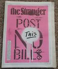 The Stranger Post No Bills ART CHANTRY cover zine magazine seattle time capsule