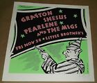 Grafton Shesus Pearlene The Migs concert poster Art Chantry