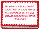 CUSTOM YOUR IMAGE PHOTO Edible cake topper decoration