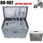 Portable Dental Turbine Unit+Air Compressor+Suction System+LED Fiber Optic 6H US