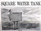 Campbell Scale Models Square Water Tank, Kit #421, CRAFTSMAN WOOD KIT