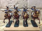 Toy Soldiers 4 54mm Plastic Napoleonic French Hussars