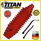 1x Universal Steering Boot For Gaiter Kit Red Silicone With Cable Ties