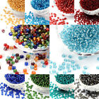 4500pcs 6 0 Glass Seed Beads Silver Lined Rocaille Loose Beads Smooth Tiny 4mm