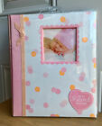 NEW Lil Peach Pink Petals Baby Girl Record Memory Keepsake Book 1st 5 Years
