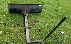Riding mower lawn tractor snow plow blade