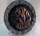 Fenton Madonna with Sleeping Child Amethyst Glass Plate 1971 Mother's Day