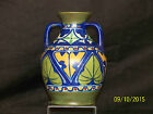 James(Jas.) Plant Art Pottery Art Deco c1920 Era Hand Painted Persian Motif Vase